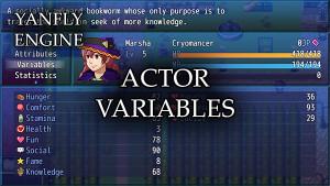 Actor Variables (YEP) - Yanfly moe Wiki